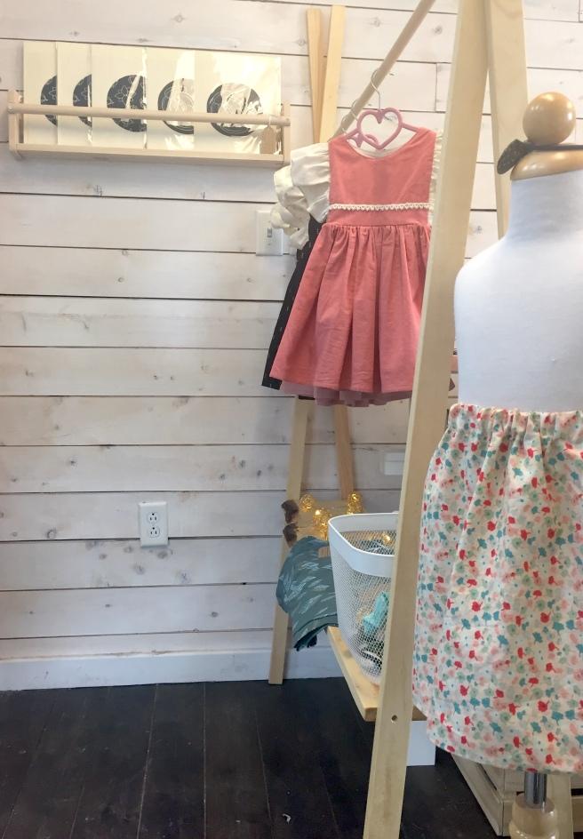 studio, retail shop, children's clothing, prints
